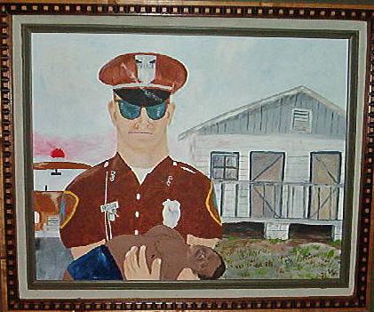 Patrolman Evans' painting.